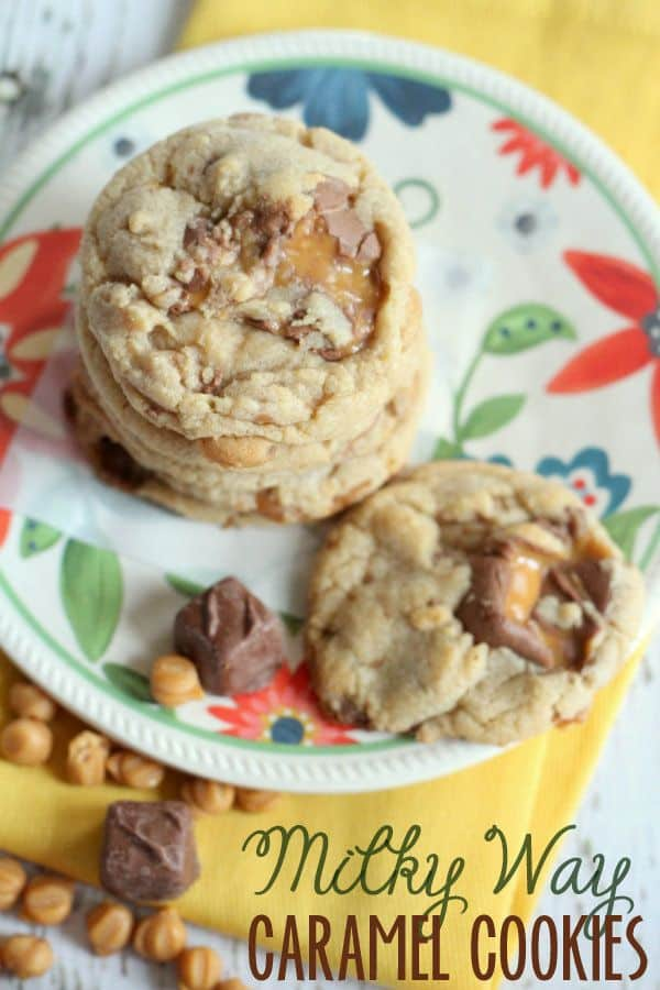 Milky Way Caramel Cookies