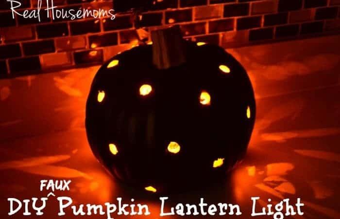 DIY Faux Pumpkin Lantern Light