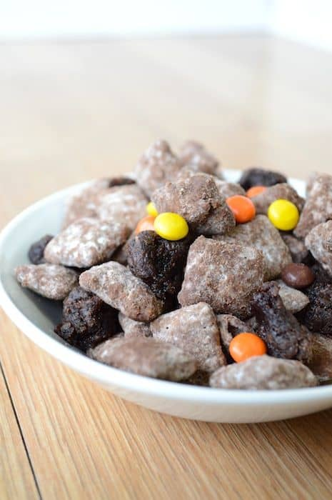 Reese's Pieces Brownie Puppy Chow