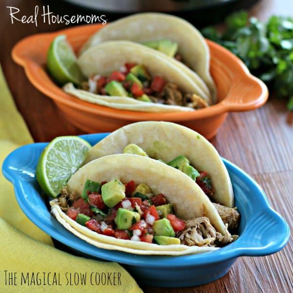 Slow Cooker Chicken Tacos | Real Housemoms