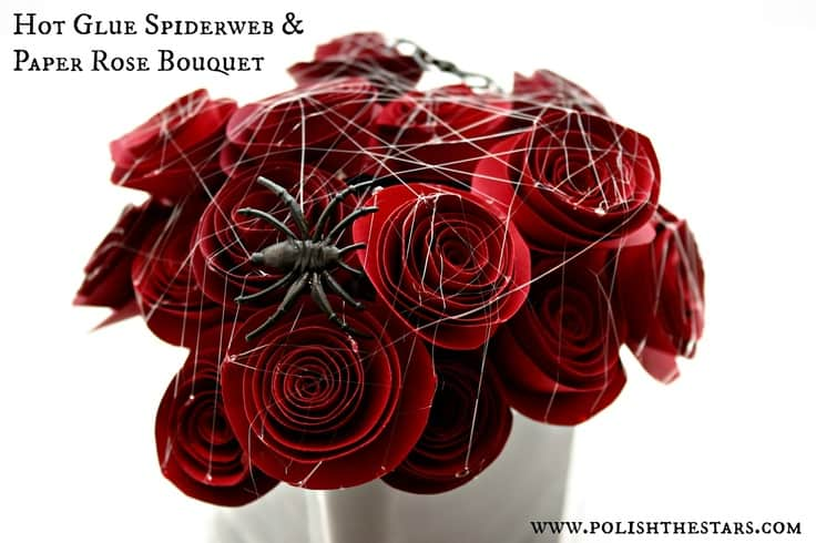 Spiderwebs and Paper Roses  Bouquet