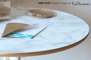 DIY Marble Top Table|Real Housemoms