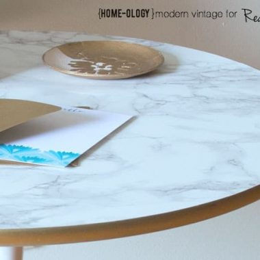 DIY Marble Top Table|Real Housemoms