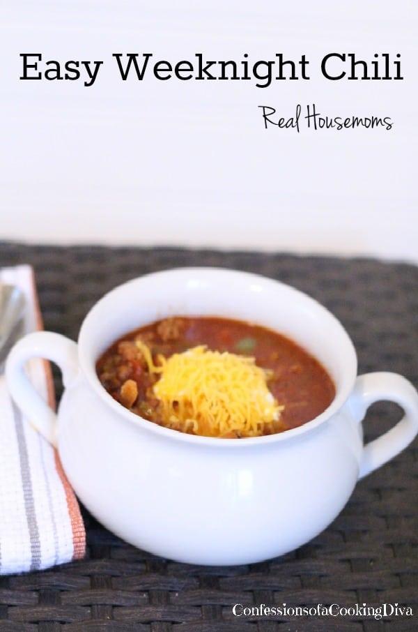 Easy Weeknight Chili | Real Housemoms