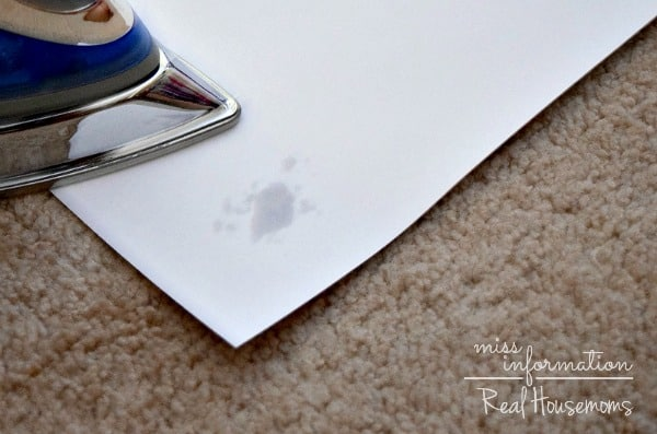How to get wax out of carpet - Real Housemoms