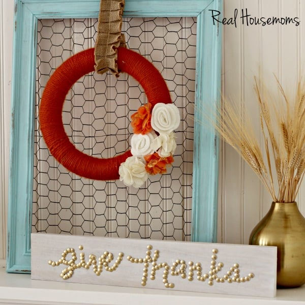 DIY Give Thanks Thumbtack Sign  |  Real Housemoms