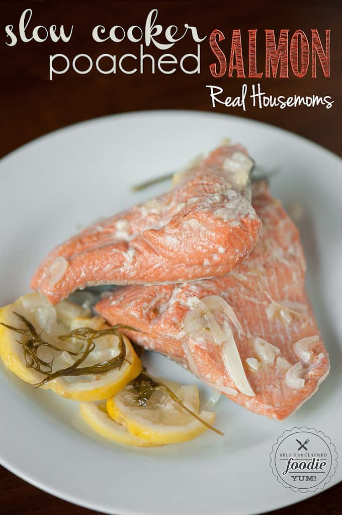 Slow Cooker Poached Salmon is great for any busy weeknight dinner. It ...