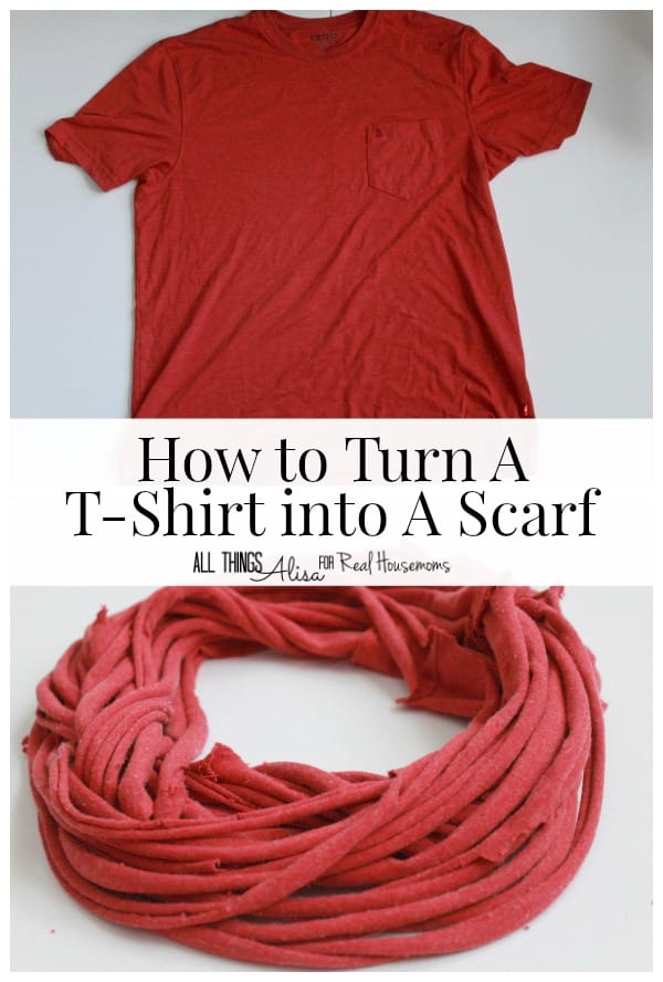 DIY T-Shirt Scarf | Real Housemoms