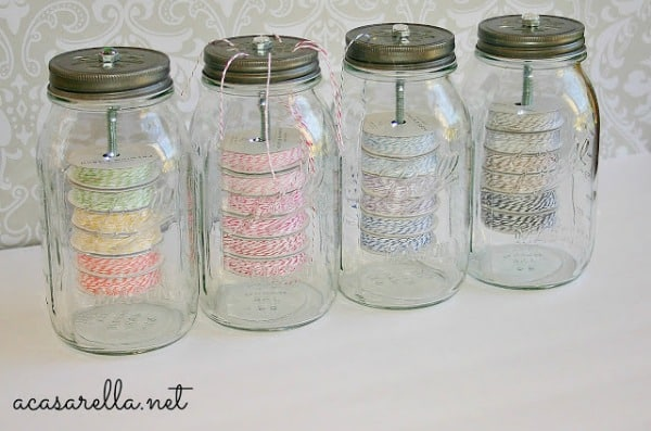 Organizing with Mason Jars - Real Housemoms