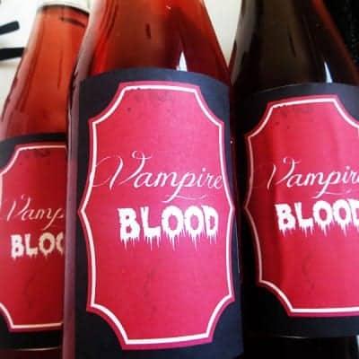 Halloween Vampire Blood Drink Labels