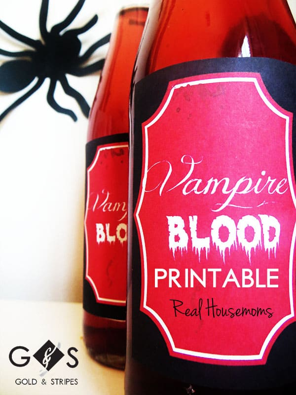 vampire blood printables