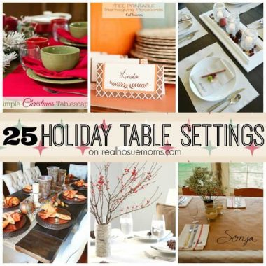 25 Holiday Table Settings