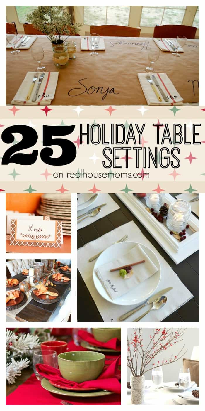 25 Holiday Table Settings on realhousemoms.com