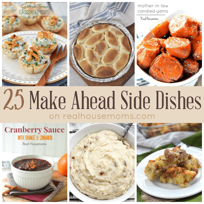 25 Make Ahead Side Dishes SQUARE