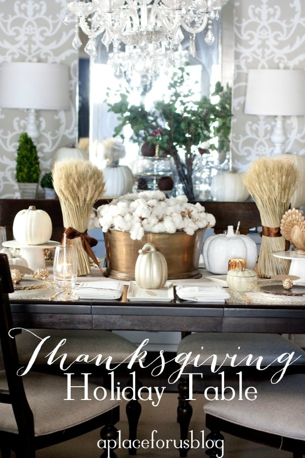 A Golden Holiday Table & 25 Holiday Table Settings ? Real Housemoms