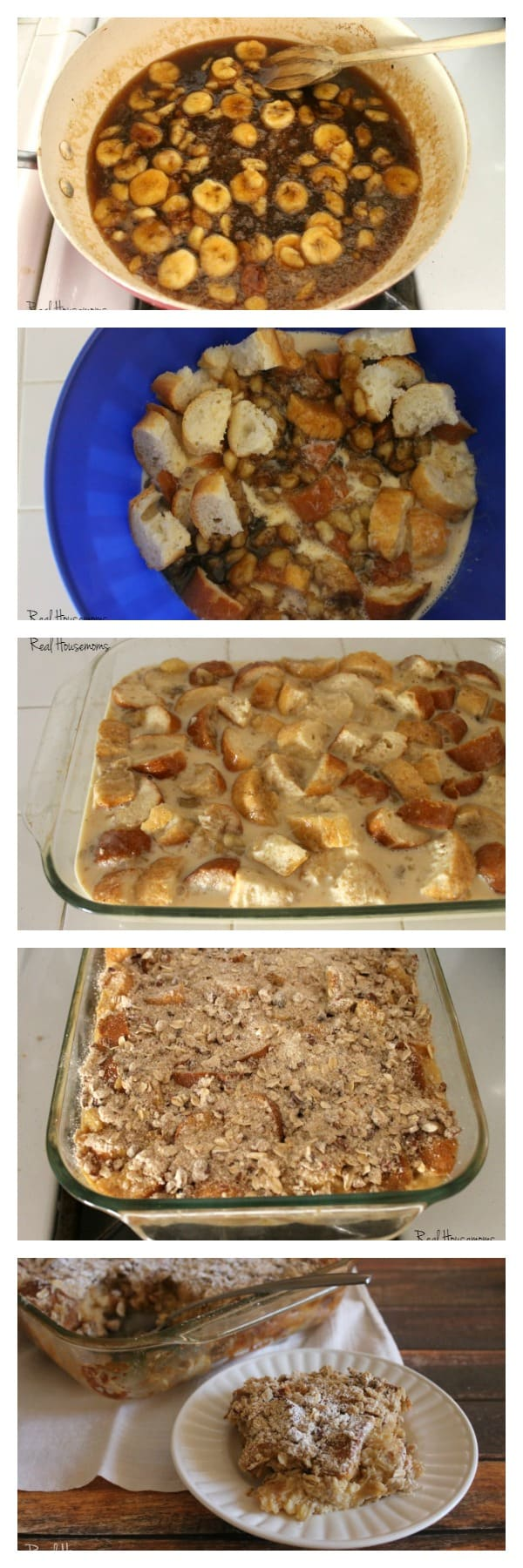 Bananas Foster Bread Pudding | Real Housemoms