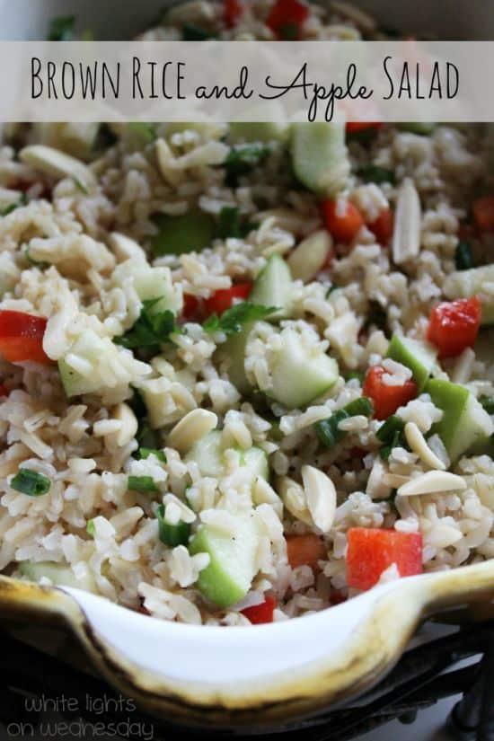 Brown Rice and Apple Salad