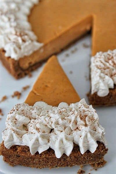 Caramel Sweet Potato Cheesecake Tart