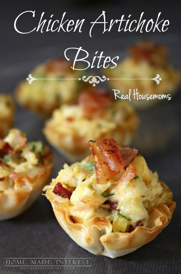 Chicken Artichoke Bites | Real Housemoms