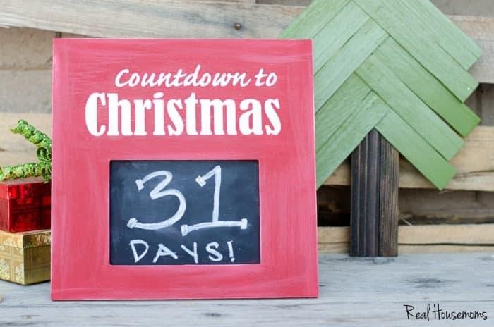 Countdown To Christmas Sign.Diy Christmas Countdown Sign Real Housemoms