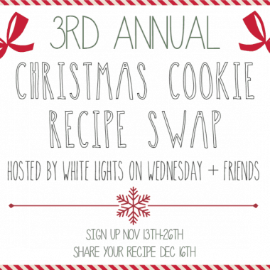 Cookie Swap graphic image with red outline and black lettering