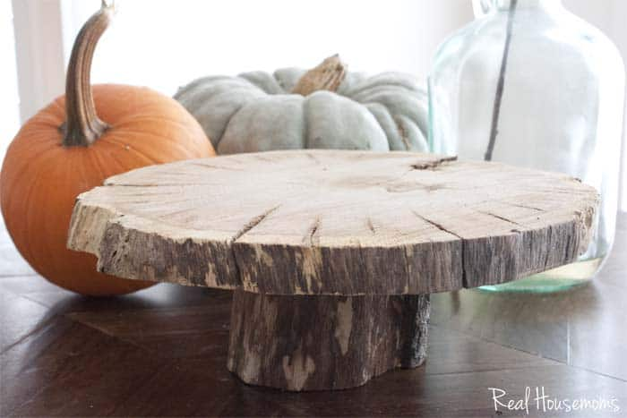Diy Wood Slice Cake Serving Pedestal ⋆ Real Housemoms