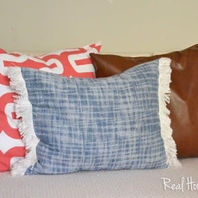 Super Easy Fringe Pillow
