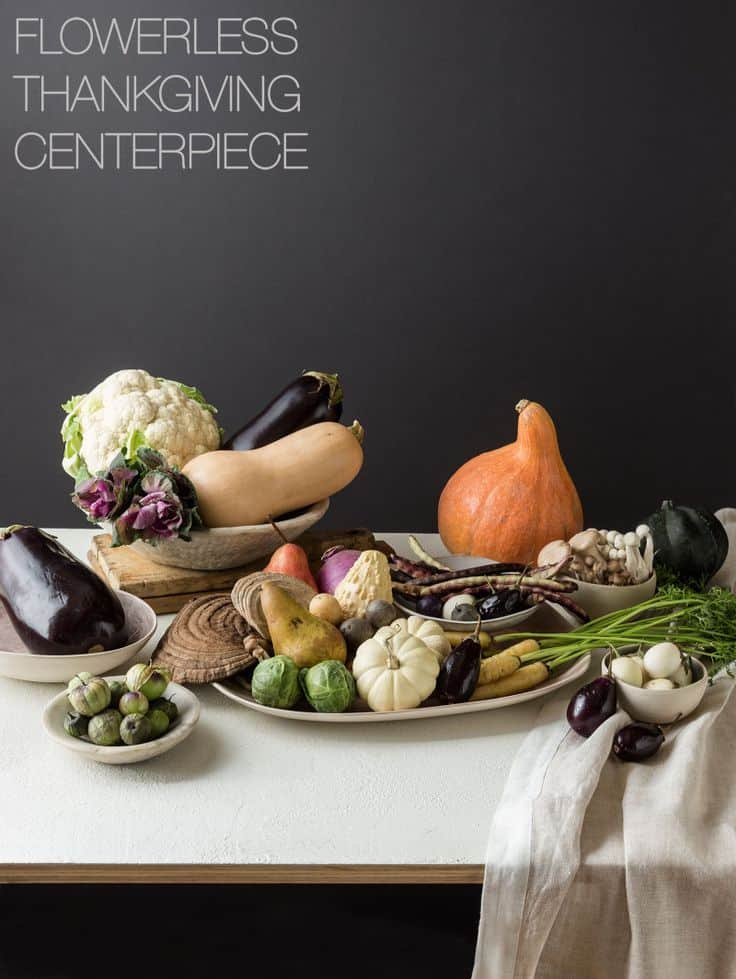 FLOWERLESS THANKSGIVING CENTERPIECE
