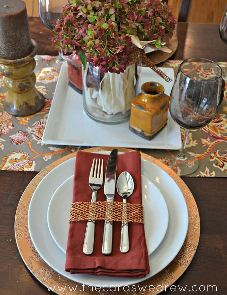 Fall Inspired Tablescap