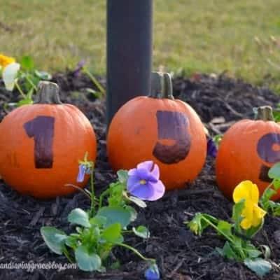 Easy Pumpkin House Numbers