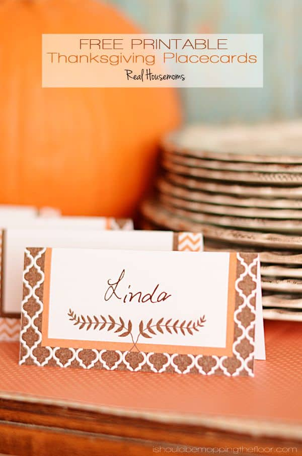 Free Printable Thanksgiving Placecards