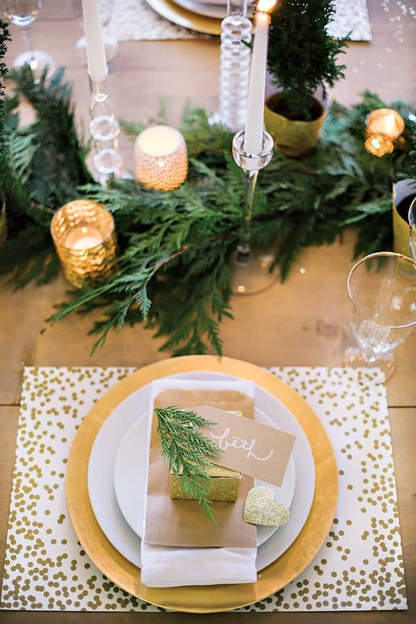 Gold + White Tablescape
