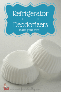 Make your own fridge deordorizers and make that box of baking soda last for months!