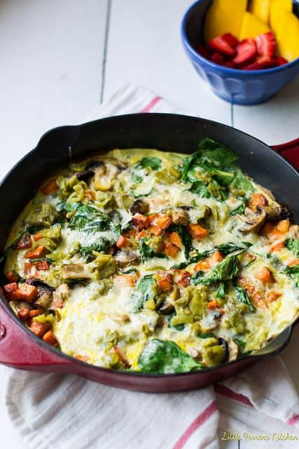 Loaded Veggie Fritatta with Sweet Potato and Hatch Chiles
