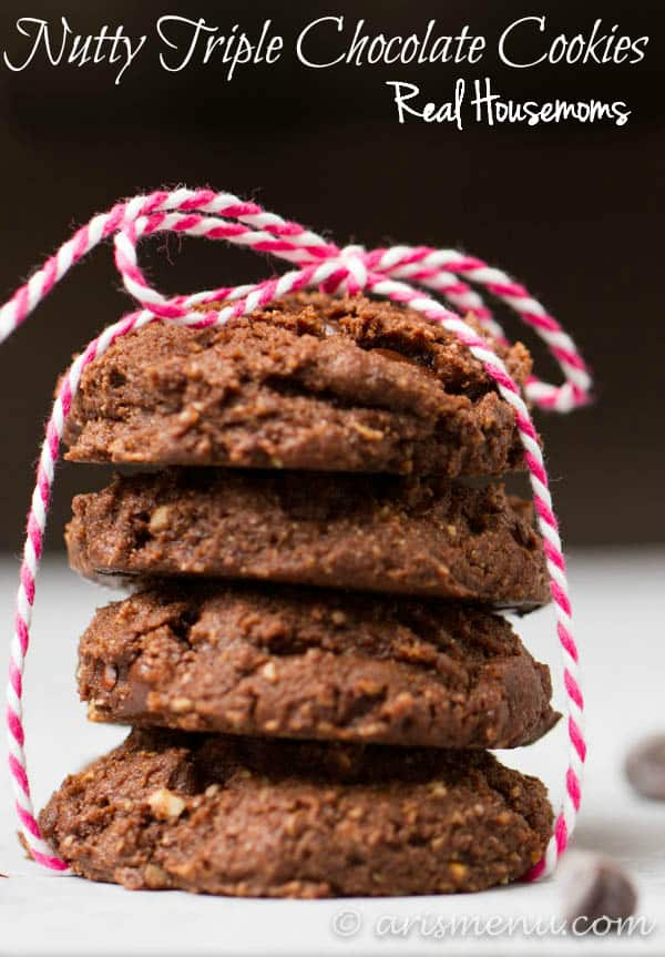 Nutty Triple Chocolate Cookies | Real Housemoms