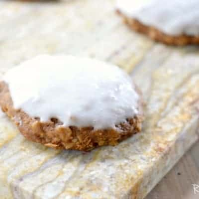 Pumpkin Oatmeal Cookies with Cream Cheese Icing