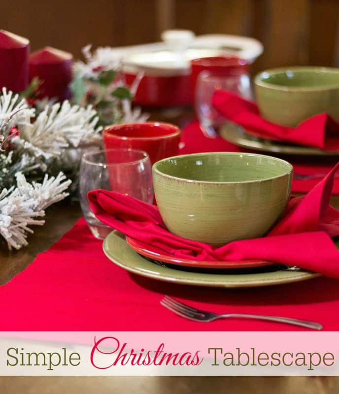 Simple Christmas Tablescape