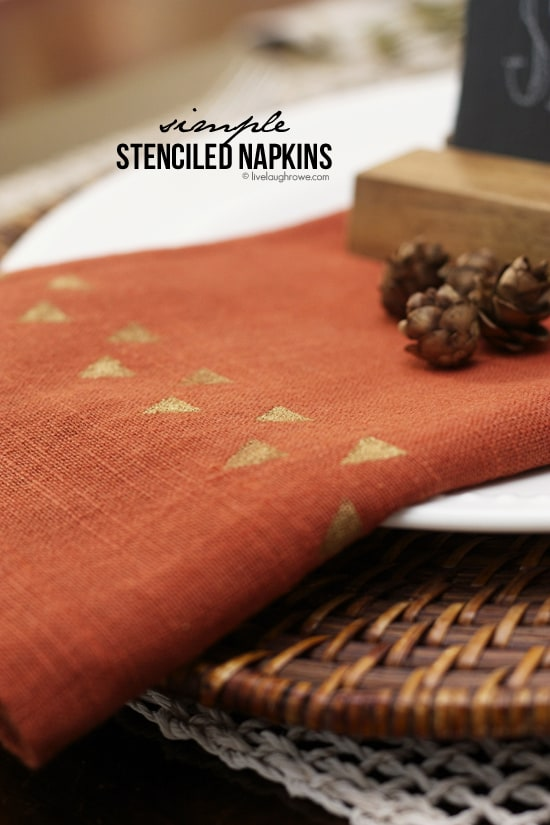 Simple Stenciled Napkins