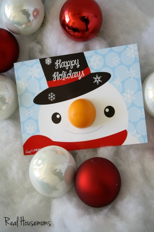 Snowman holiday printable by DimplePrints