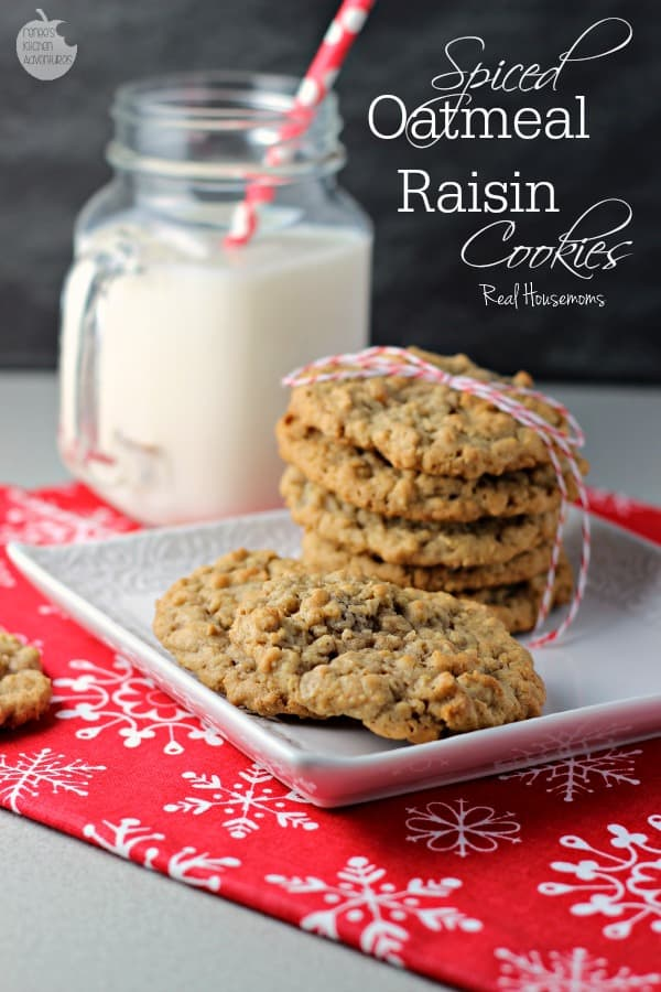 Spiced Oatmeal Raisin Cookies | Real Housemoms
