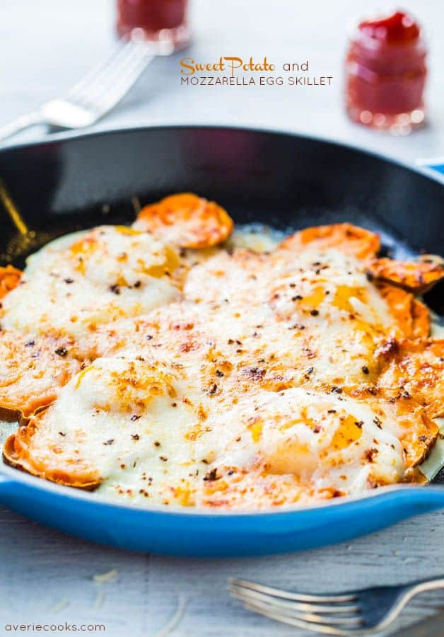 Sweet Potato and Mozzarella Egg Skillet