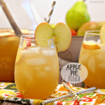 Apple Pie Punch with an apple garnish