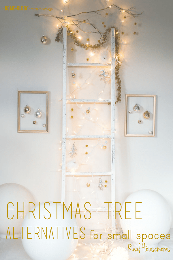 Christmas Tree Alternatives For Small Spaces | Real Housemom's