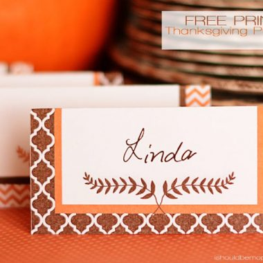 Free Printable Thanksgiving Placecards | Two Designs | Instant Downloads
