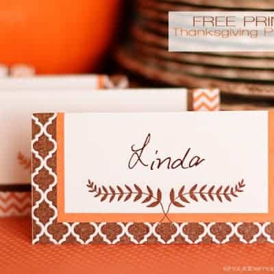 Free Printable Thanksgiving Placecards