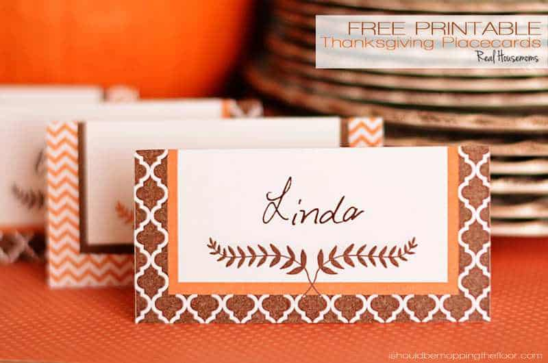 photo regarding Thanksgiving Place Cards Printable named Free of charge Printable Thanksgiving Placecards ⋆ Genuine Housemoms