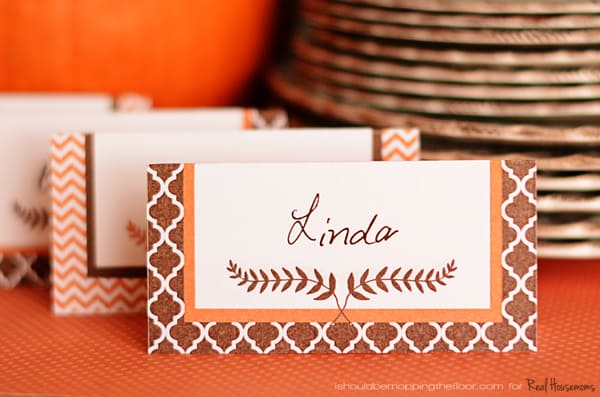 Free Printable Thanksgiving Placecards | Real Housemoms