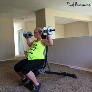shoulder press down
