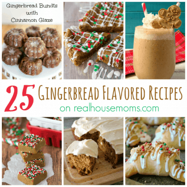 25 Gingerbread Flavored Recipes, photo collage