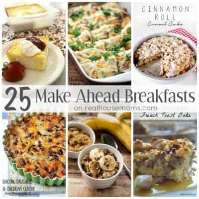 25 Make Ahead Breakfasts